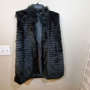 New direction faux fur vest